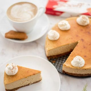 Espresso Cheesecake with Biscoff Crust