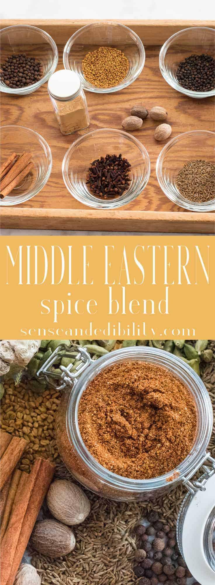 Sense & Edibility's Middle Eastern Spice Blend Pin