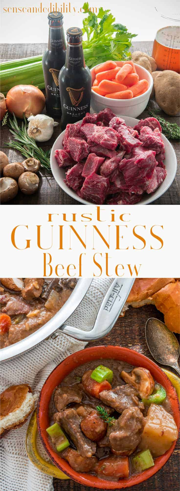 Sense & Edibility's Rustic Guinness Beef Stew Pin