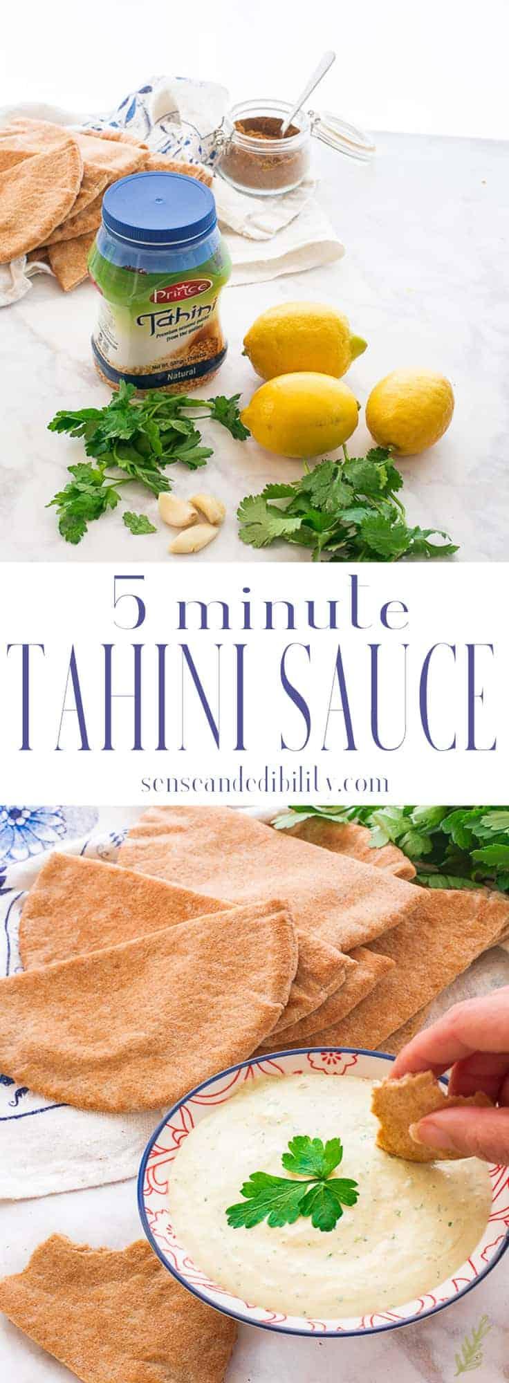 Sense & Edibility's Tahini Sauce Pin