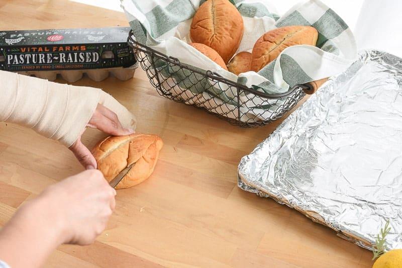 Sense & Edibility's Avocado Egg Baguettes