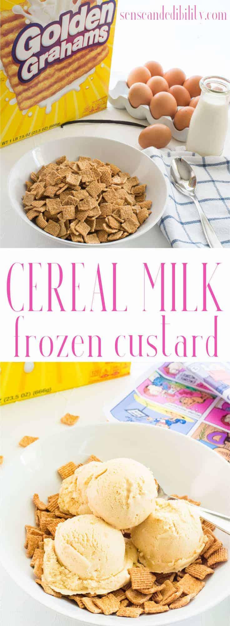Sense & Edibility's Cereal Milk Frozen Custard Pin
