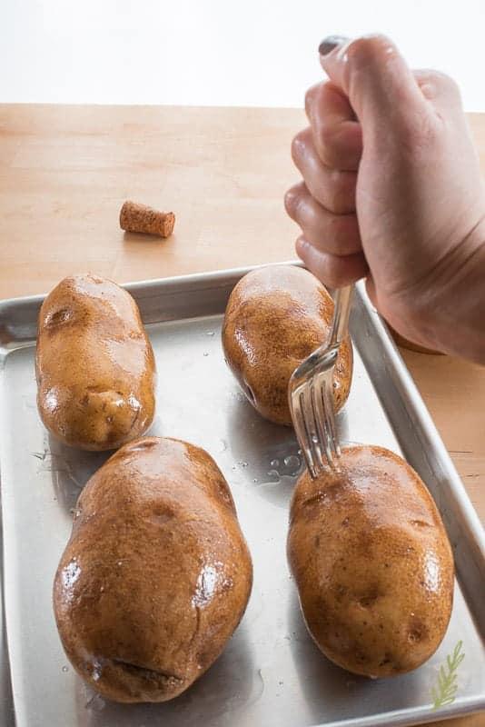 Sense & Edibility's Philly Cheesesteak Baked Potatoes
