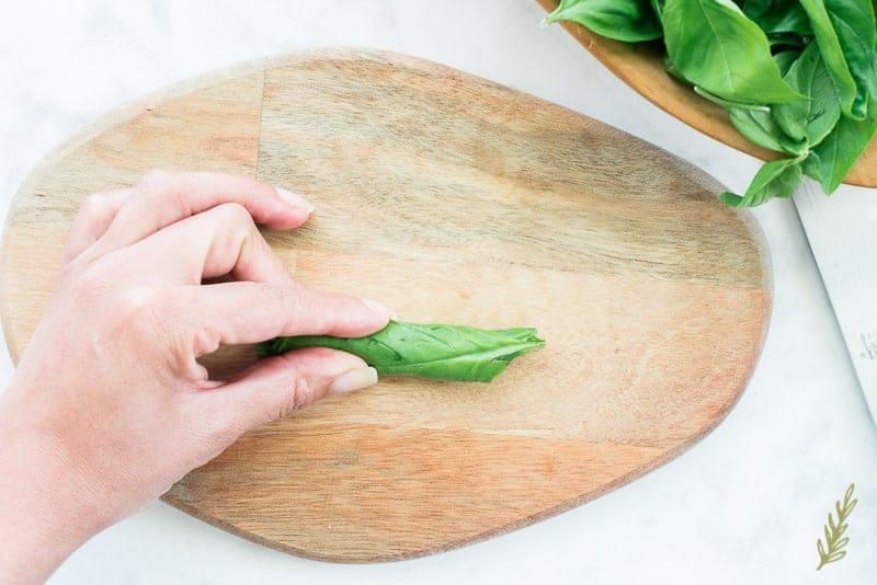 Sense & Edibility's How to Chiffonade Basil