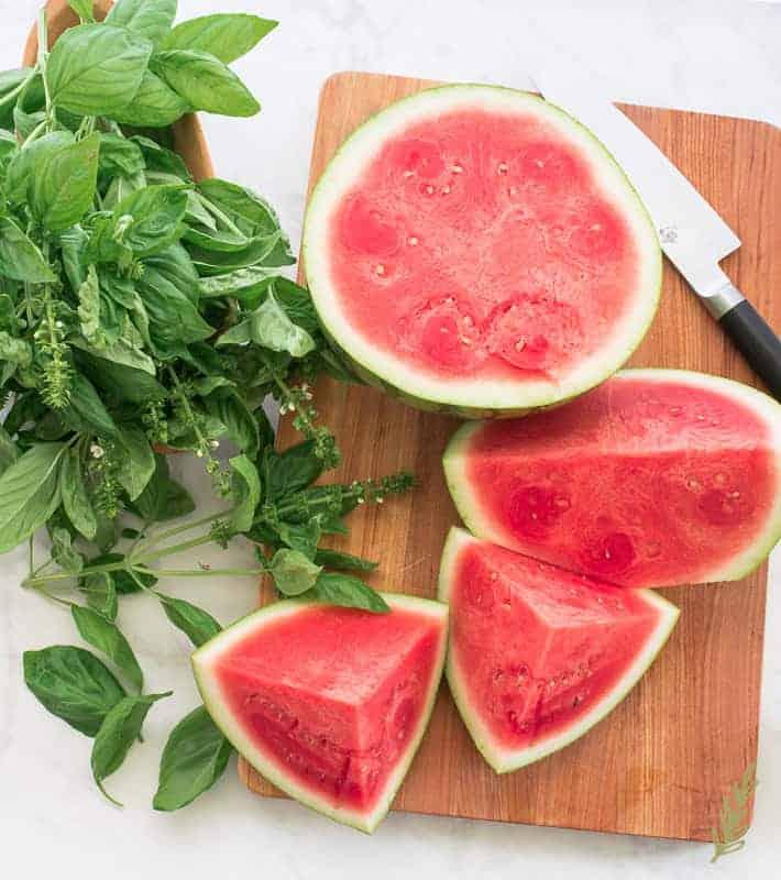 Sense & Edibility's Watermelon-Basil Sorbet