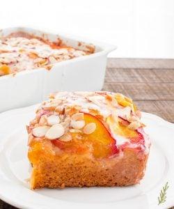 Sense & Edibility's Nectarine-Almond Coffee Cake