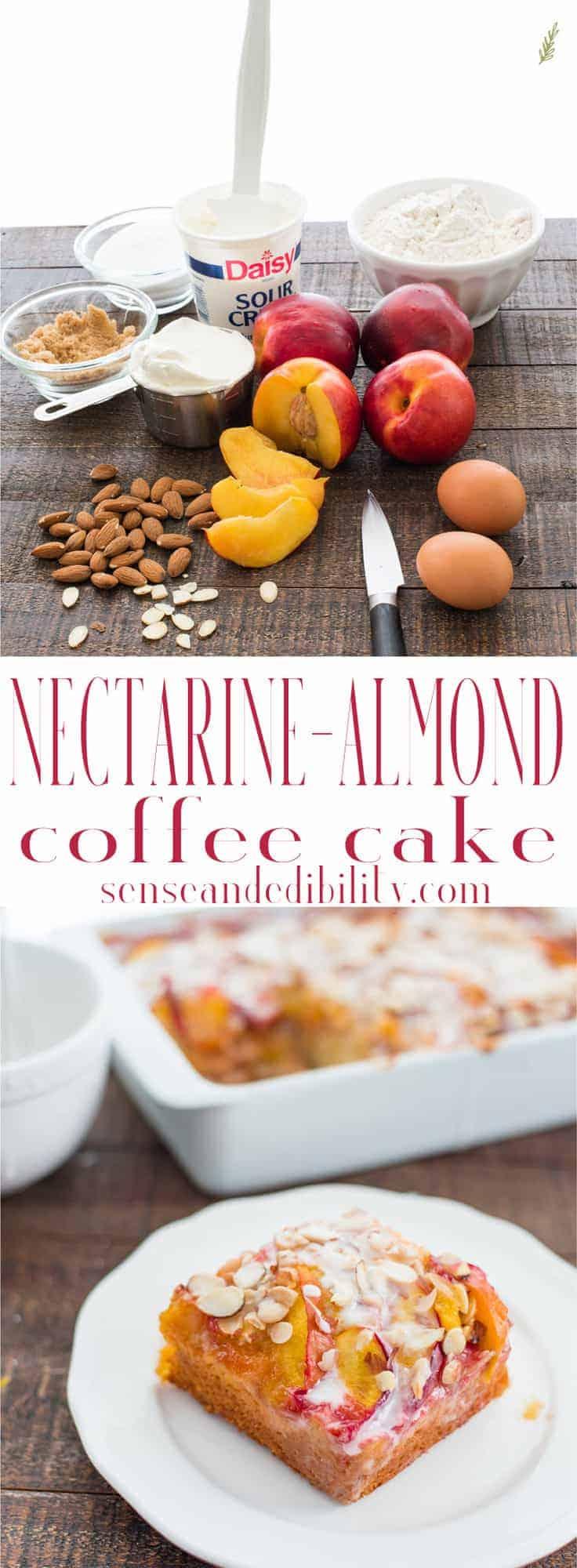 Sense & Edibility's Nectarine-Almond Coffee Cake Pin