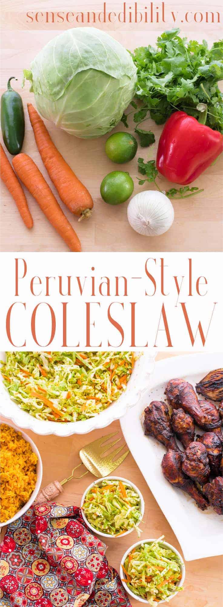 Sense & Edibility's Peruvian Coleslaw Pin