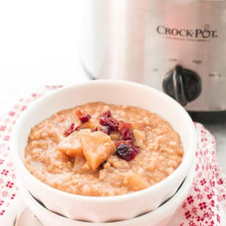 Overnight Apple Pie Steel Cut Oatmeal
