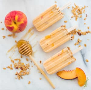 Sense & Edibility's Peach Frozen Yogurt Breakfast Pops