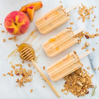Peach Frozen Yogurt Breakfast Pops
