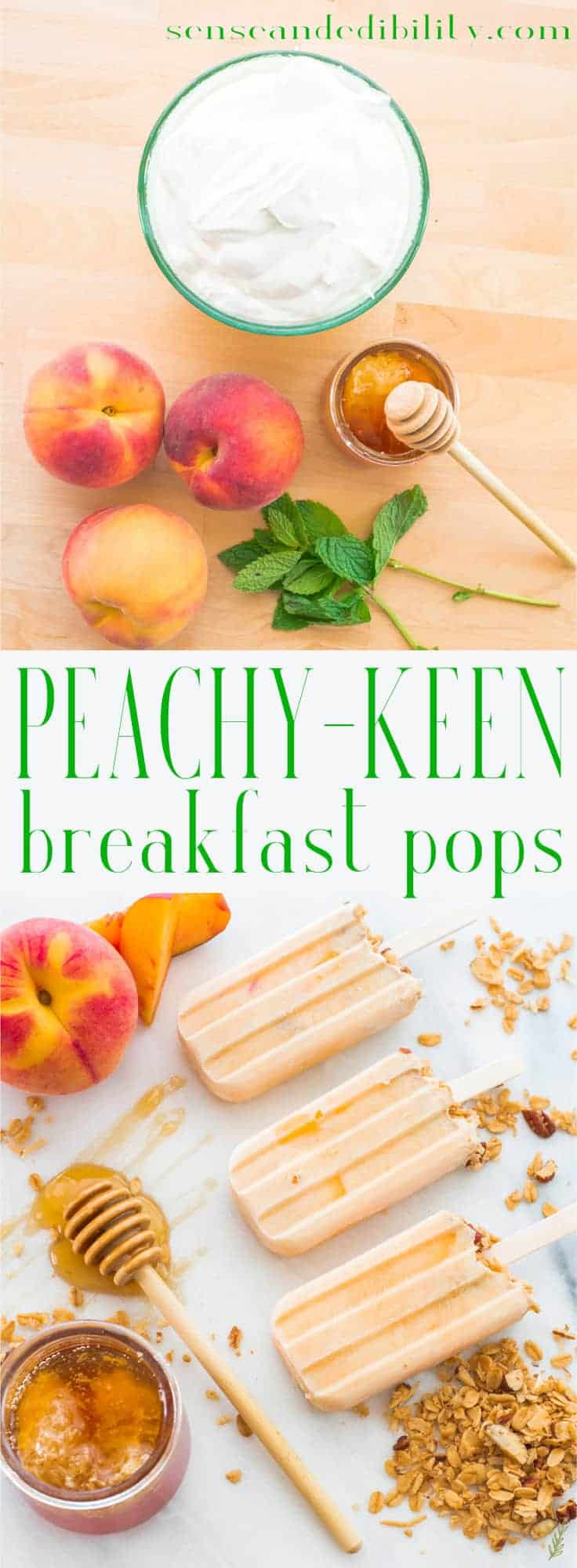 Sense & Edibility's Peachy Keen Morning Pops Pin