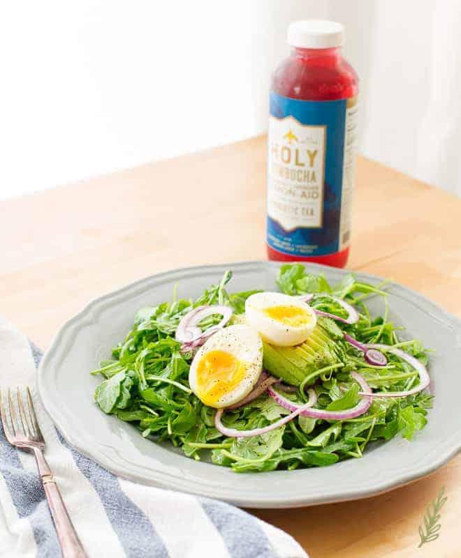 Sense & Edibility's Arugula Salad with Lemon-Garlic Dressing