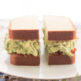 Avocado-Chicken Salad Sandwiches with Bacon