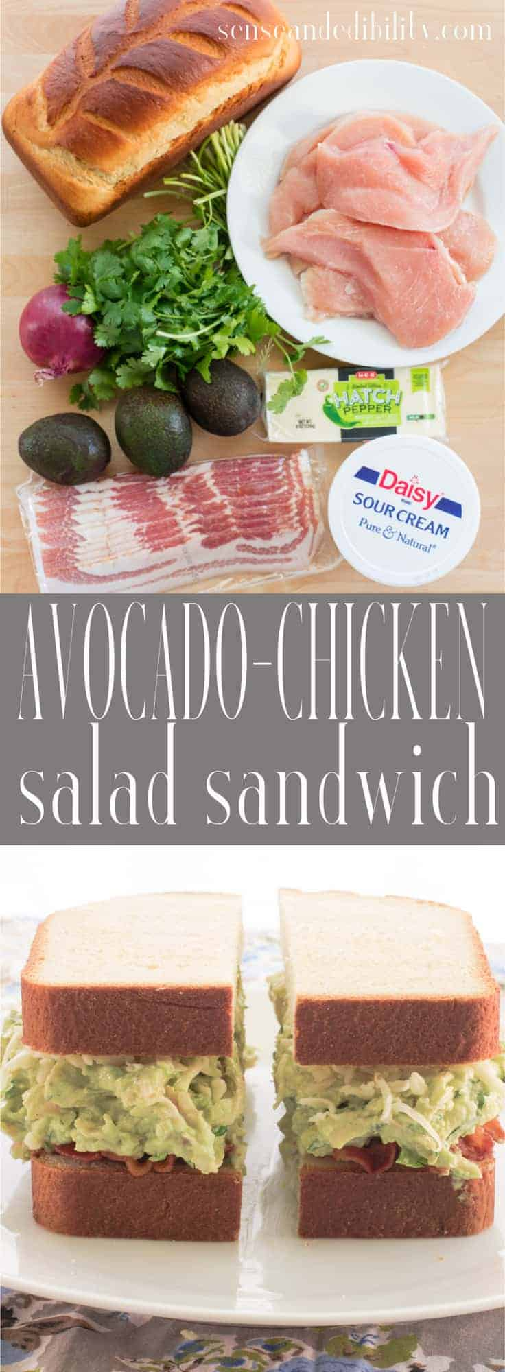 Sense & Edibility's Avocado-Chicken Salad Sandwich Pin