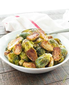 Sense & Edibility's Balsamic-Rosemary Roasted Brussels Sprouts