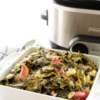 Country Style Collard Greens in the Slow Cooker