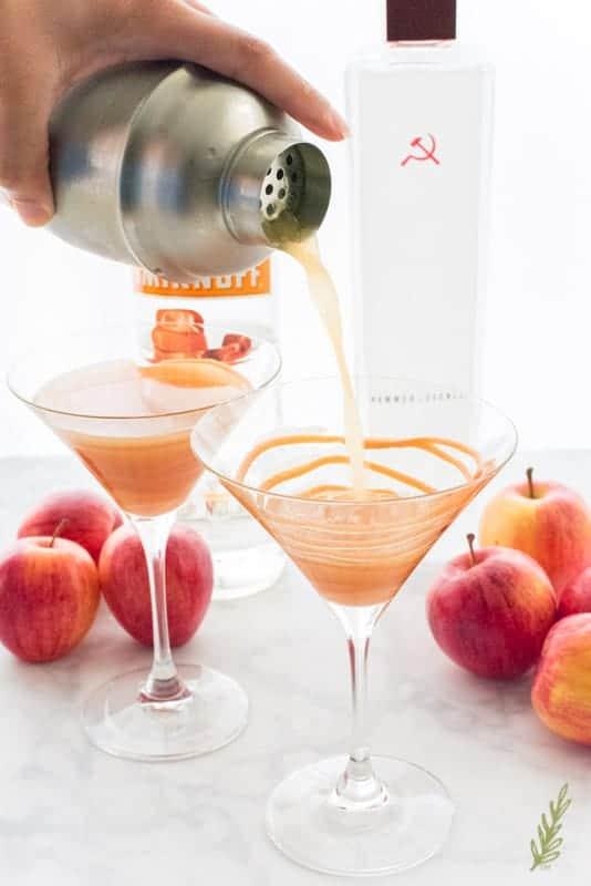 Sense & Edibility's Caramel Apple Martini