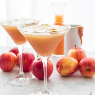 Caramel Apple Vodka Martini Cocktails