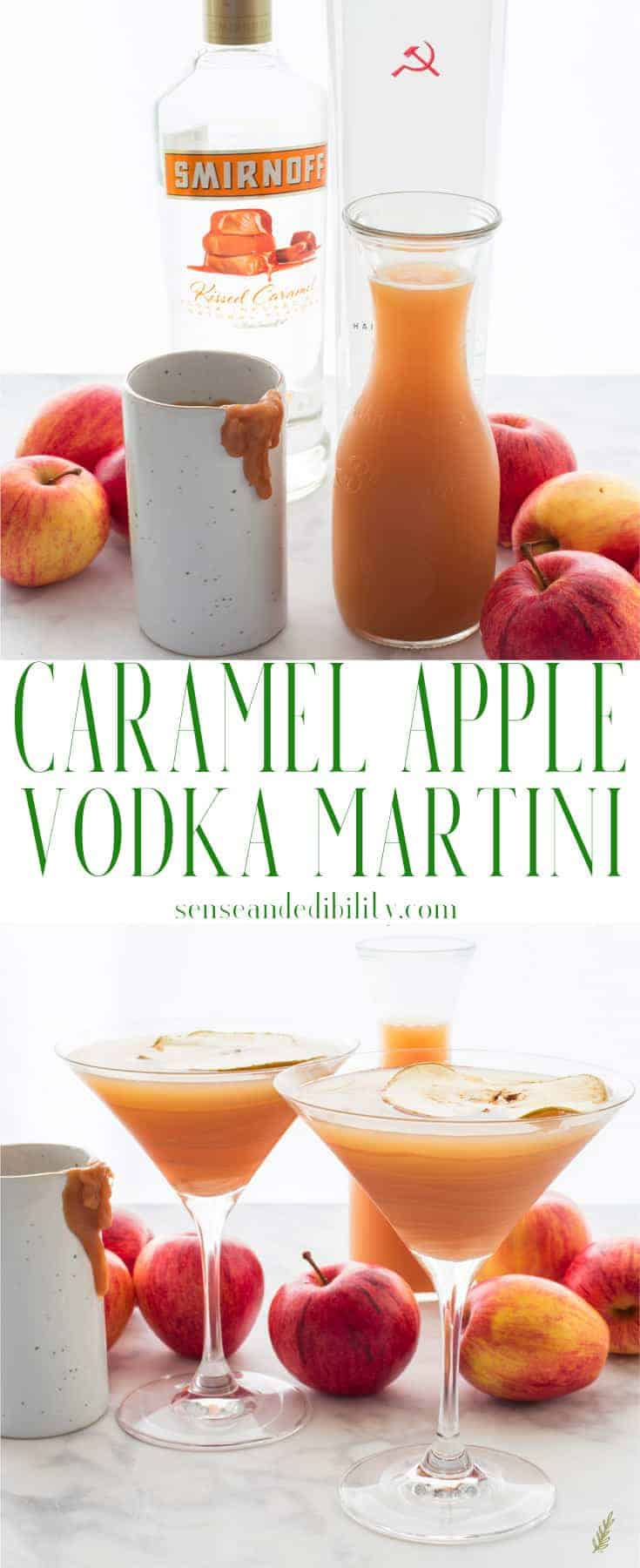 Sense & Edibility's Caramel Apple Martini Pin