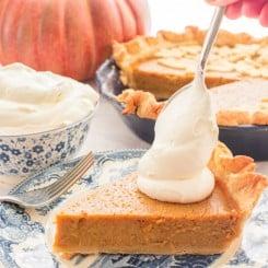 Sense & Edibility's Perfectly Easy Pumpkin Pie