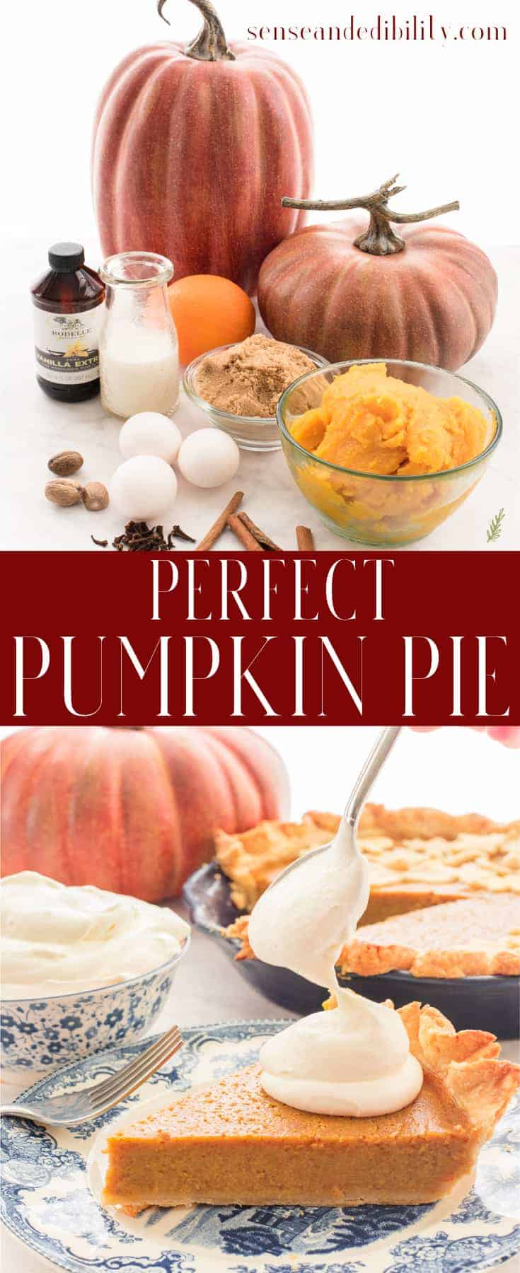 Sense & Edibility's Perfectly Easy Pumpkin Pie Pin