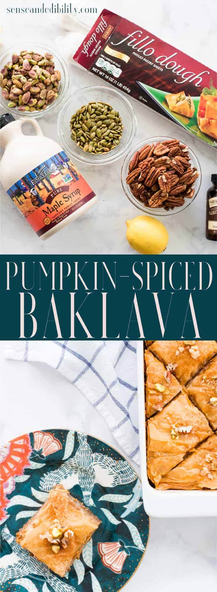 Sense & Edibility's Pumpkin Spiced Baklava Pin