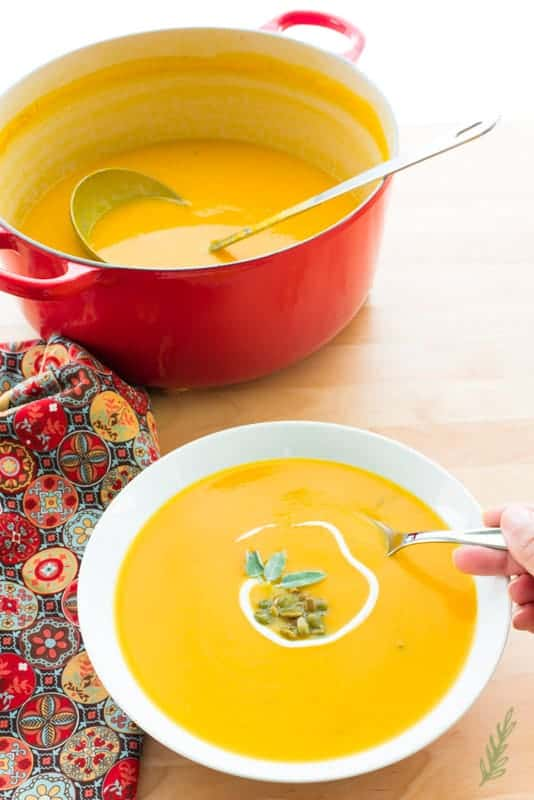 Sense & Edibility's Butternut-Apple Bisque
