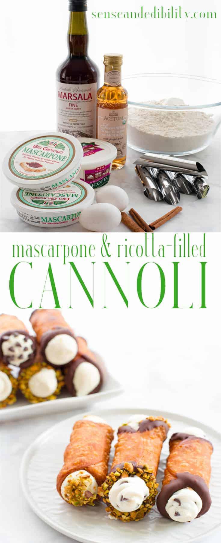 Sense & Edibility's Cannolis Three Ways Pin