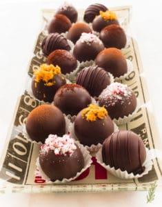 Sense & Edibility's Christmas Chocolate Truffles