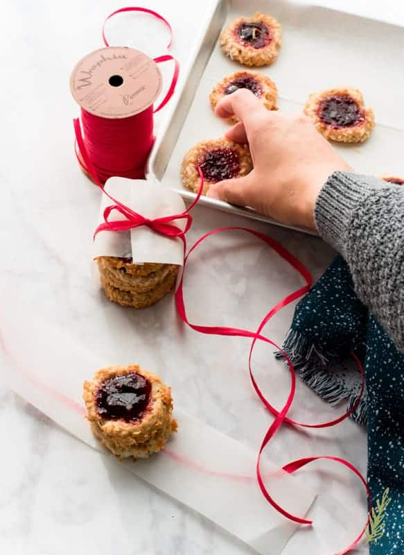 Sense & Edibility's Coconut-Raspberry Thumbprints