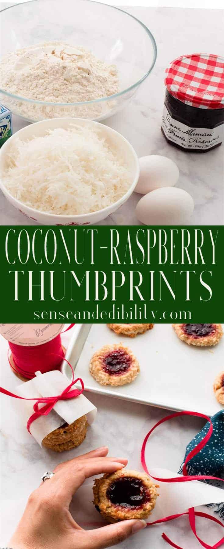 Sense & Edibility's Coconut-Raspberry Thumbprints Pin