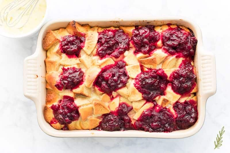Sense & Edibility's Holiday Leftover French Toast Casserole