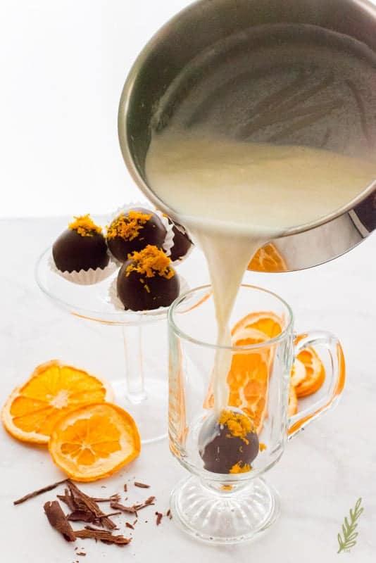 Sense & Edibility's Orange Truffle Hot Chocolate