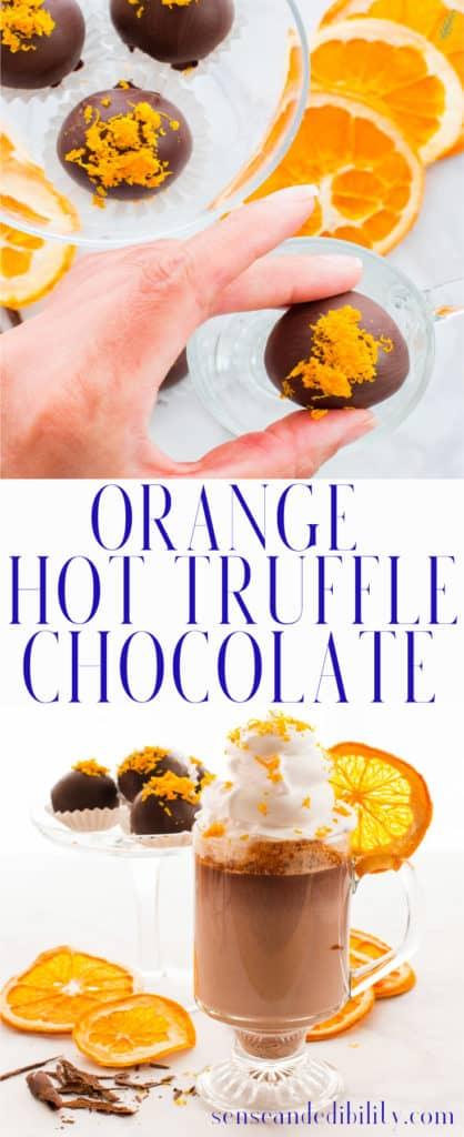 Sense & Edibility's Orange Truffle Hot Chocolate Pin