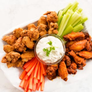 Buffalo Wing Platter with Blue Cheese Dip