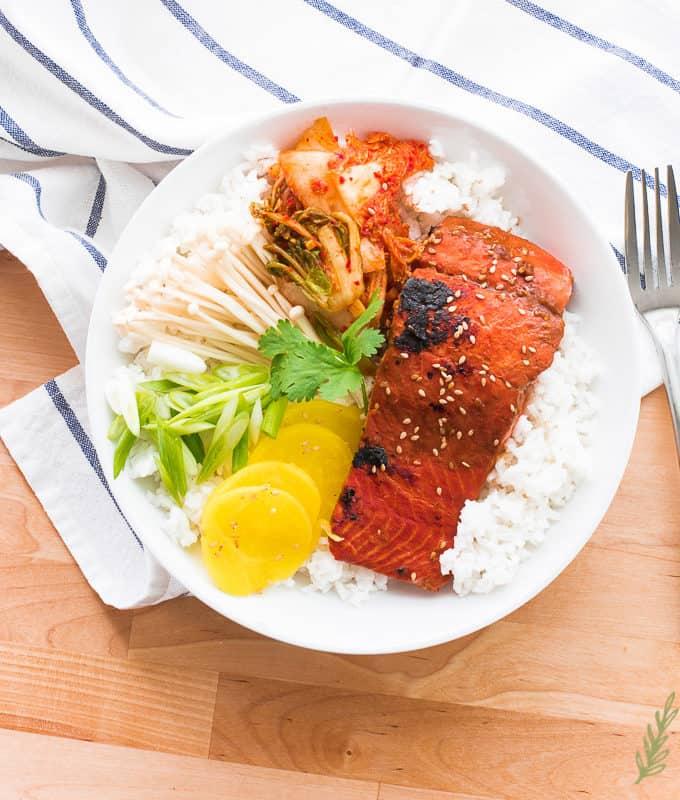 Sense & Edibility's Miso-Ginger Salmon