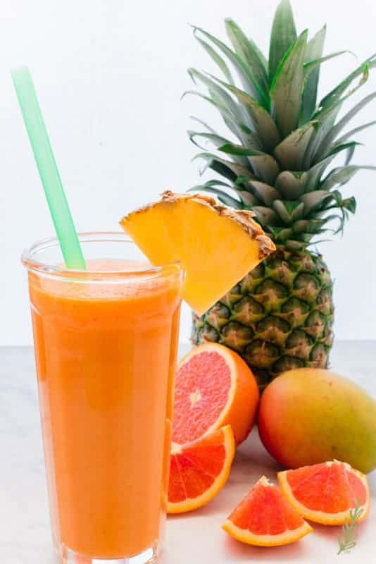 Sense & Edibility's Morning Glory Juice Cocktail