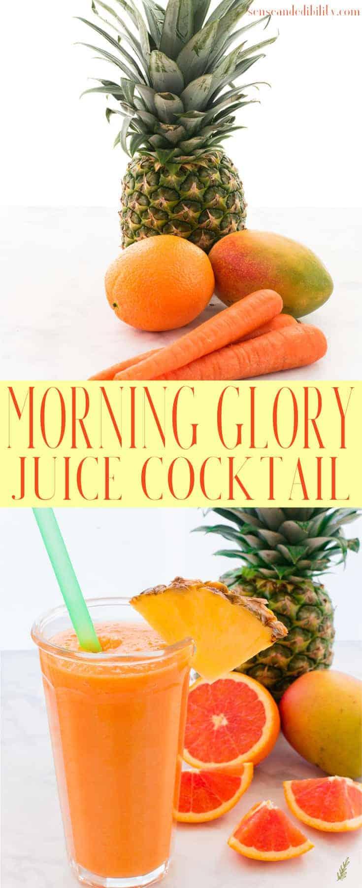 Sense & Edibility's Morning Glory Juice Cocktail Pin