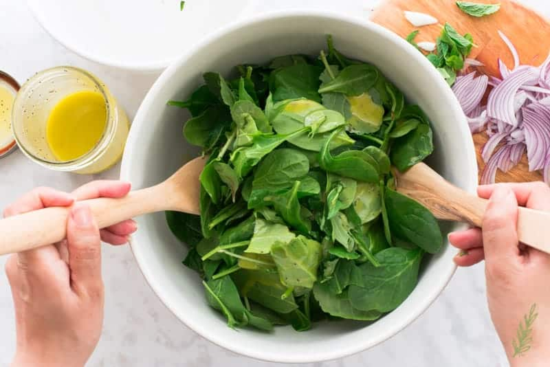 Sense & Edibility's Baby Spinach Citrus Salad with Lime Poppy Seed Dressing