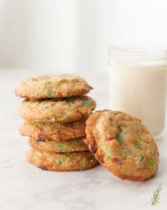 Sense & Edibility's Confetti White Chocolate Chip Cookies