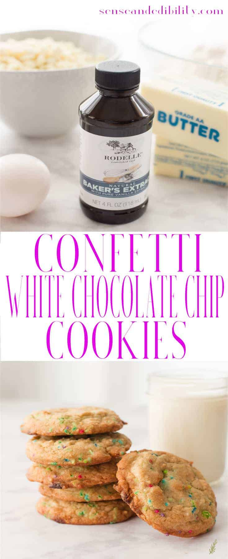 Sense & Edibility's Confetti White Chocolate Chip Cookies Pin