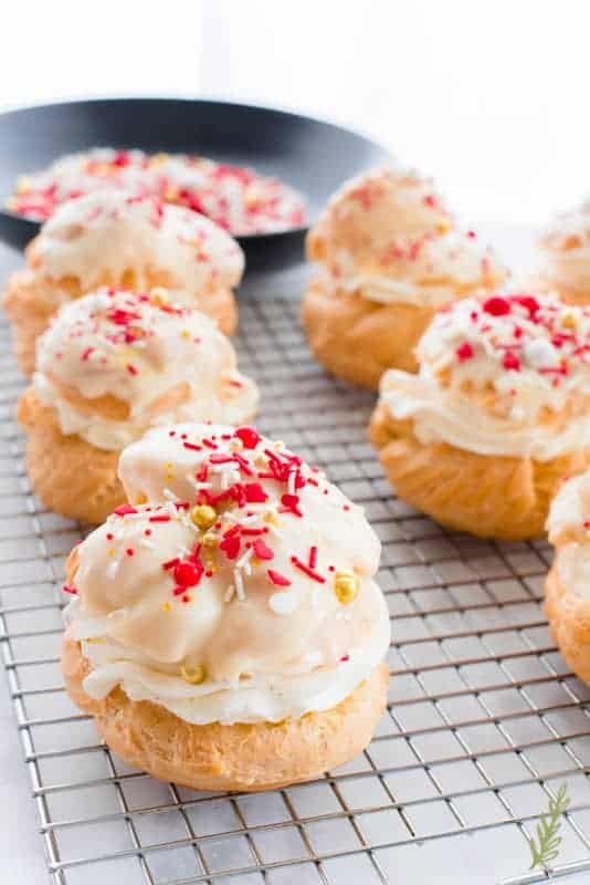 Sense & Edibility's Valentine's (or Any) Day Cream Puffs