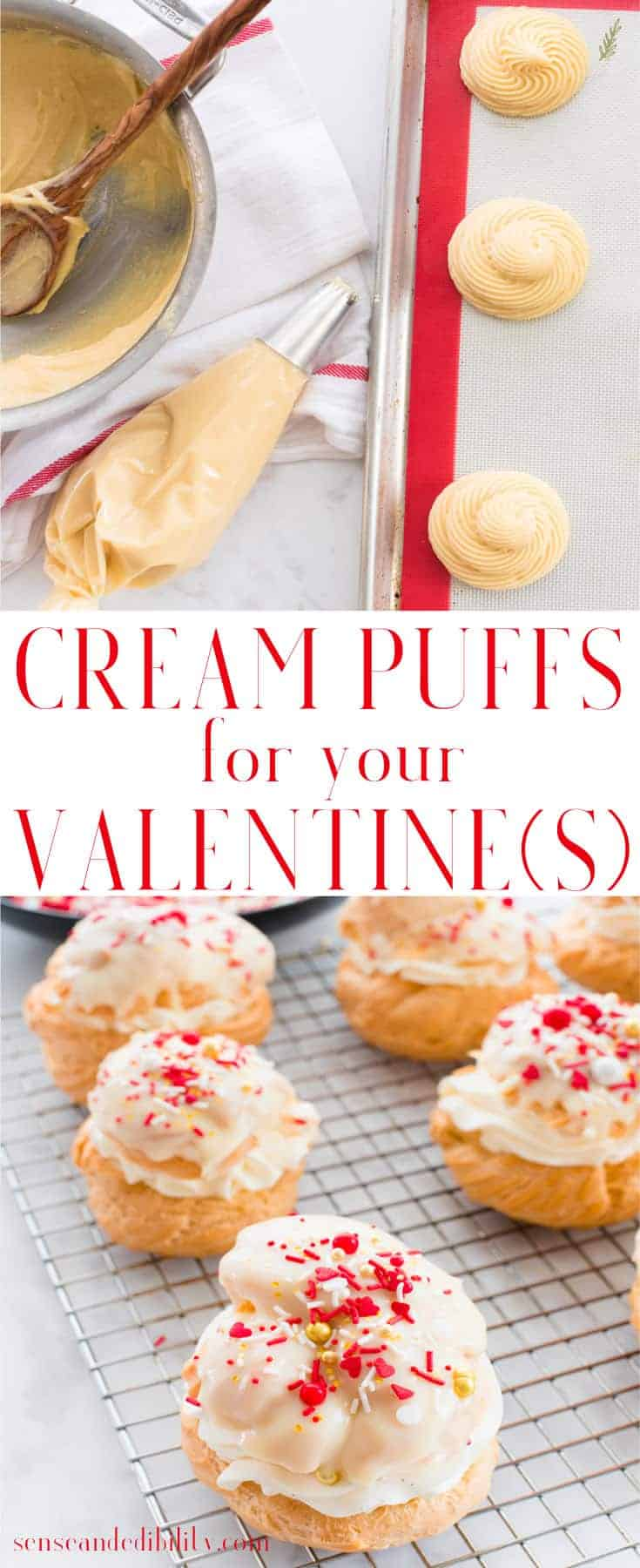 Sense & Edibility's Valentine's (or Any) Day Cream Puffs Pin