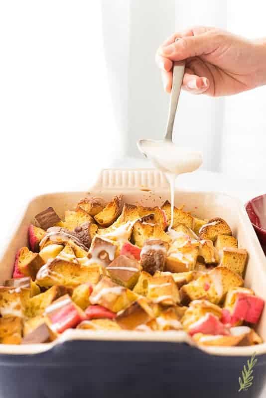 Sense & Edibility's Concha Bread Pudding Breakfast Bake