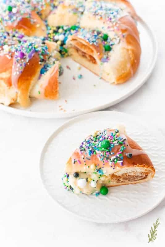 Sense & Edibility's King's Cake for Mardi Gras