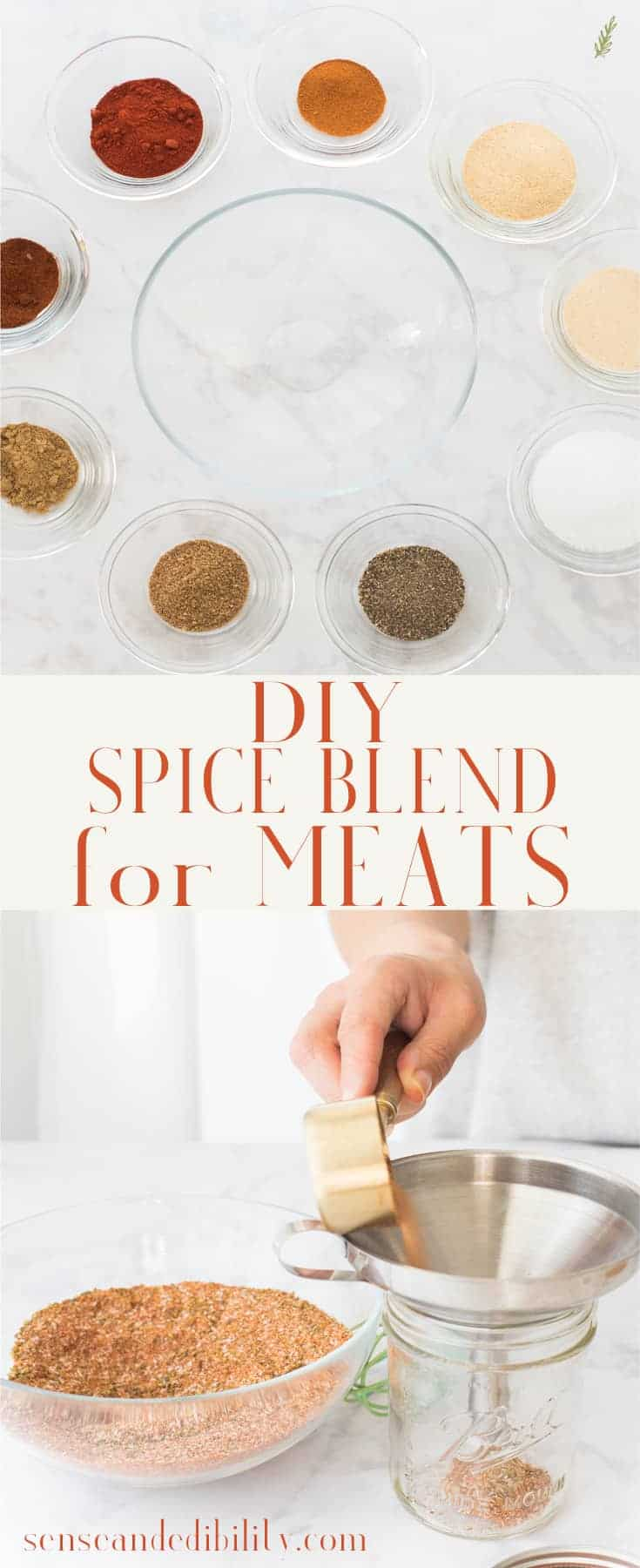 Meat Spice Blend tastes even better when made at home. Not only is it economical, it's fully customizable. Use your favorite spices and herbs in your preferred quantity. Gluten free. #meatspiceblend #spiceblends #spiceblend #spices #meatrub #spicerub #poultryspice #poultryrub #wingseasoning #seasoning #seasonsalt #allpurposeseasoning #seasonall #sazonador #especias #saltblend #homemadespicerub #homemadespiceblend via @ediblesense