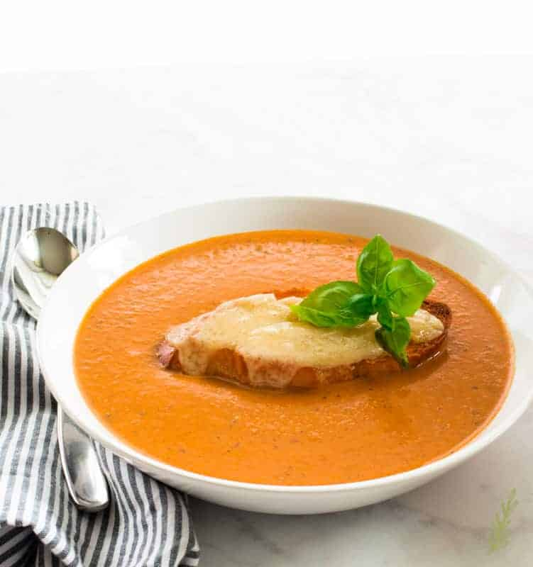Sense & Edibility's Roasted Tomato-Basil Bisque