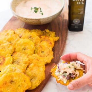 Sense & Edibility's Tostones Pan-Fried Fried in Olive Oil