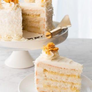 Piña Colada Cake with Vanilla Buttercream